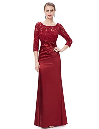 Ever Pretty Elegant Lace Long Sleeve Formal Floor Length Evening Dress