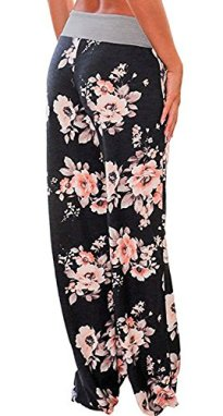 AMiERY Women's Casual Pajama Pants Floral 3