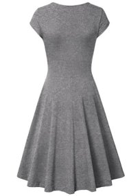 Laksmi Elegant Dresses Womens Casual Dress A Line Cap Sleeve 2