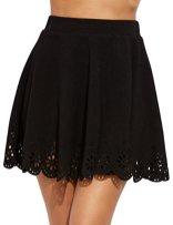 SheIn Women's Basic Solid Flared Mini Skater Skirt 3