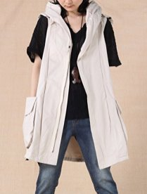 Mordenmiss Women's Sleeveless Coat Vest Hoodie Waistcoat Anoraks 2
