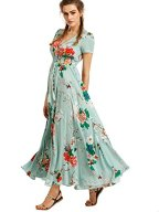 Milumia Women's Button up Split Floral Print 3