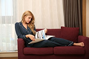 Ekouaer Pajamas Women's Long Sleeve Sleepwear Soft Pj 3