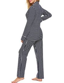 Ekouaer Pajamas Women's Long Sleeve Sleepwear Soft Pj 5