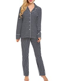Ekouaer Pajamas Women's Long Sleeve Sleepwear Soft Pj 6