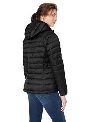 Lightweight Water-Resistant Packable Hooded Puffer Jacket 2