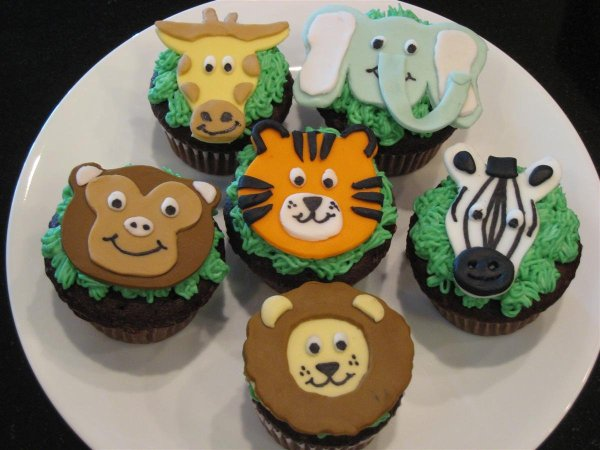 Zoo Animal Cupcakes Chica And Jo