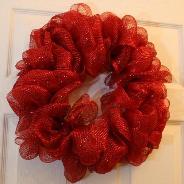 Make Mesh Ribbon Wreath Chica And Jo