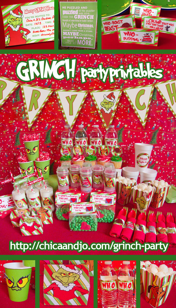 Grinch Christmas Party Ideas Chica And Jo