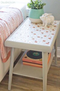 Mid-century tile top tables restoration | Chica and Jo