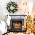 Cozy Scandinavian Christmas Fireplace Decorations Chica And Jo