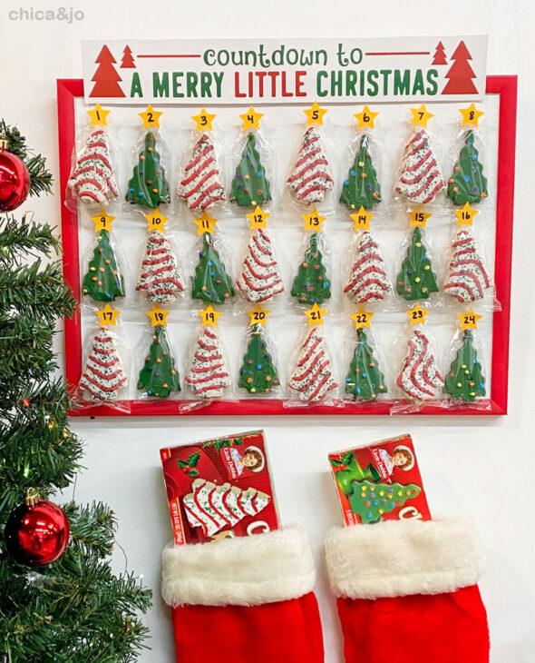 little debbie christmas tree cake advent calendar 16