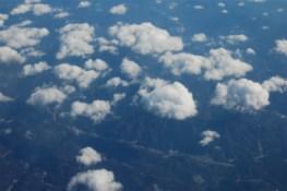 飛行機窓からみた様子・その1♪