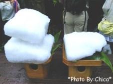 1月に詰められた雪です♪