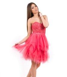 Tutu στράπλες φουξ φόρεμα με τούλινη φούστα