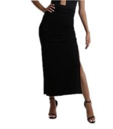 Μάξι φούστα ψηλόμεση μαύρη