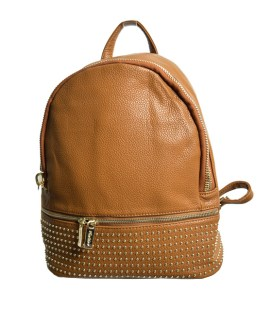 628da0008b Τσάντα πλάτης με χρυσά τρούκς (Κάμελ)
