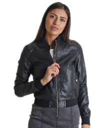 Κοντό jacket bomber με φερμουάρ (Μαύρο)