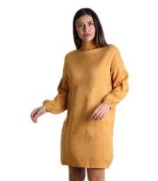 Πλεκτό φόρεμα ζιβάγκο (Μουσταρδί)