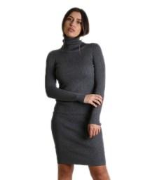 Ριπ φόρεμα ζιβάγκο midi (Γκρι)