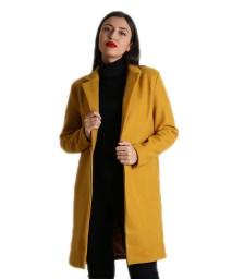 Μίντι παλτό με εσωτερική φόδρα (Μουσταρδί)