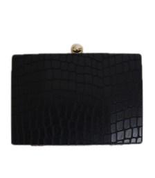 Τσάντα clutch snake (Μαύρο)