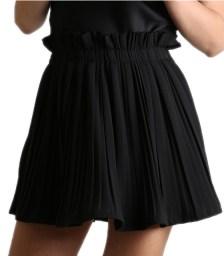 Μίνι φούστα πλισέ με λάστιχο (Μαύρο)