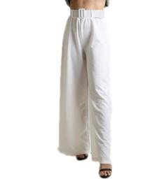 Παντελόνα ψηλόμεση με ζώνη (Λευκό)