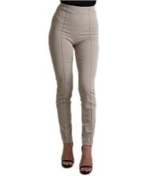 Ψηλόμεσο παντελόνι με τσάκιση (Μπεζ)