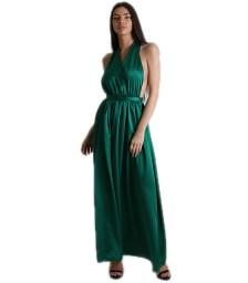 Φόρεμα σατέν μάξι πολυμορφικό (Βεραμάν)