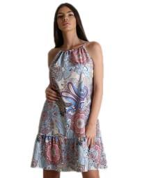 Φόρεμα λαχούρ με δέσιμο