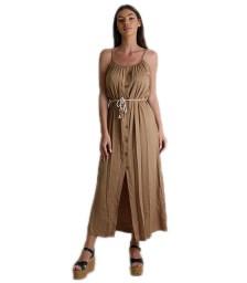 Φόρεμα μάξι τιράντα με κουμπιά (Κάμελ)