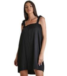 Μίνι φόρεμα με δέσιμο στους ώμους (Μαύρο)