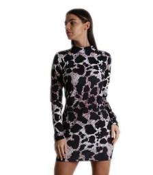 Φόρεμα ζιβάγκο εφαρμοστό μίνι λεοπάρ