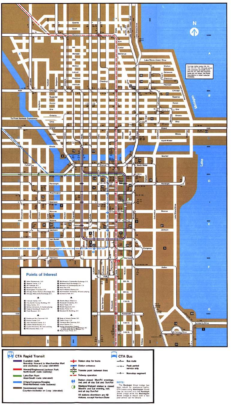 Chicago Lorg System Maps  Route Maps