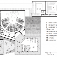 Diagram of Writers Theater (Courtesy of Studio Gang)