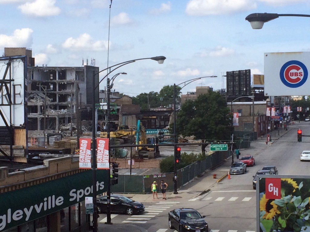 Demolition for Clark and Addison (Courtesy of Near North Spy Tim)