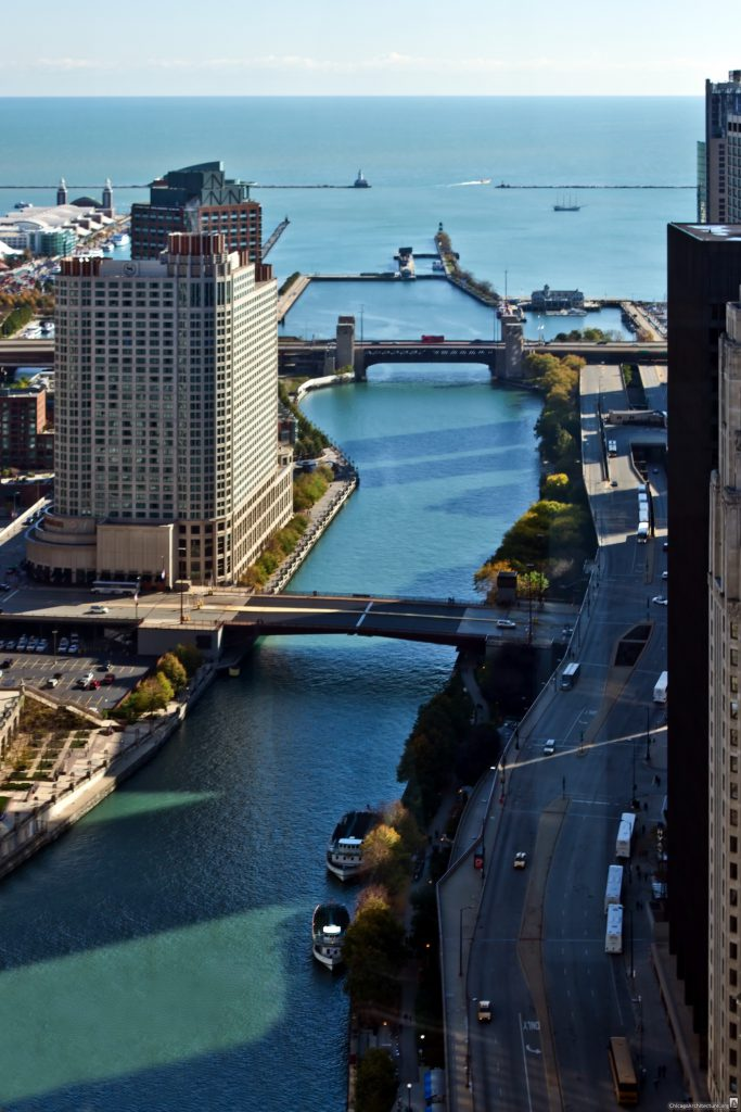 The Chicago River downtown