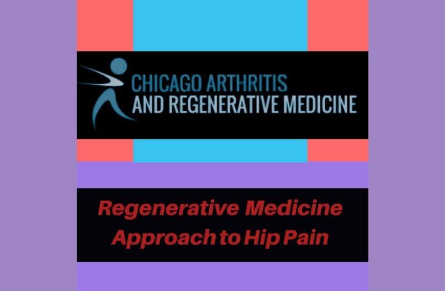 Regenerative Medicine approach to Hip pain- PRP treatment.