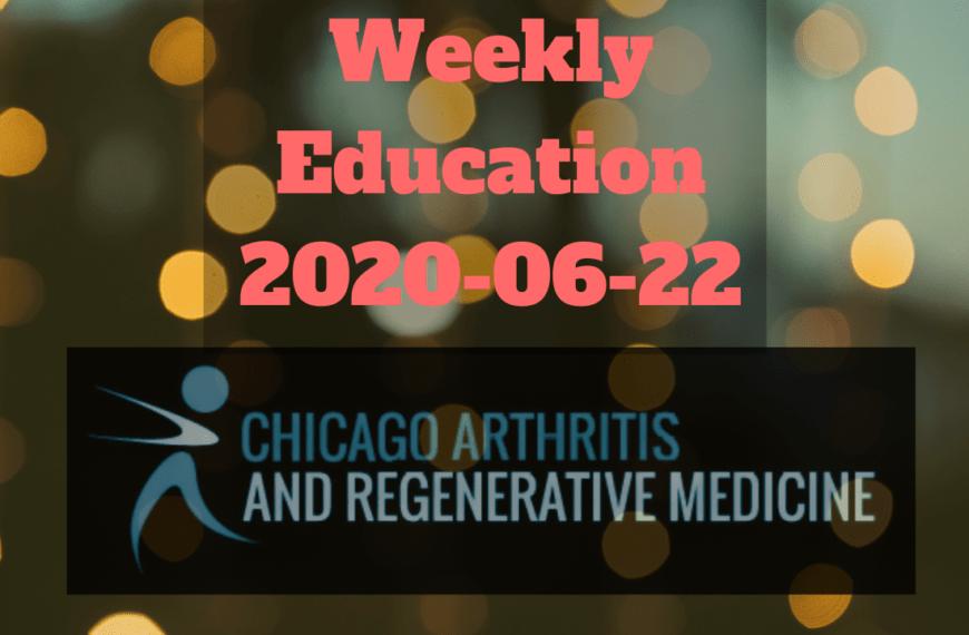 Weekly Education meeting 2020-06-22