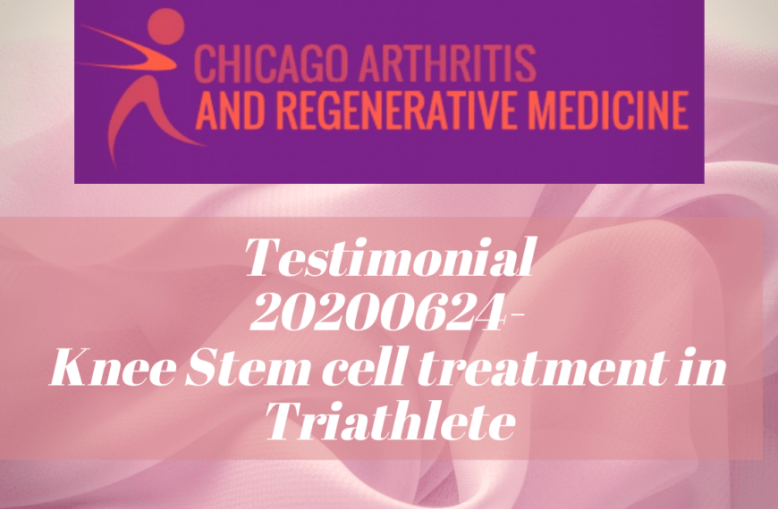Testimonial- 20200624- Knee Stem cell treatment for a Triathlete