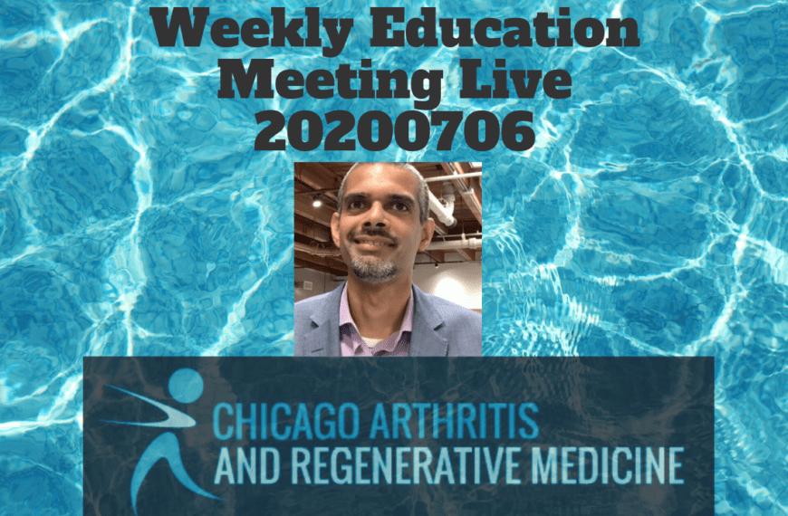 Weekly educational meeting Live! 20200706