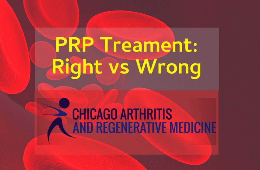 PRP Treatment- Right versus Wrong