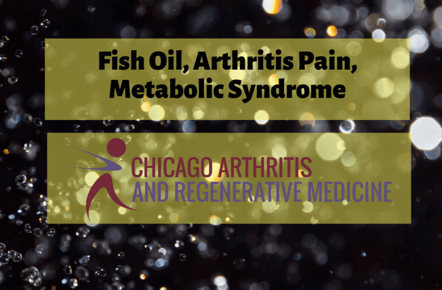 Fish oil, Joints, and Metabolic Health