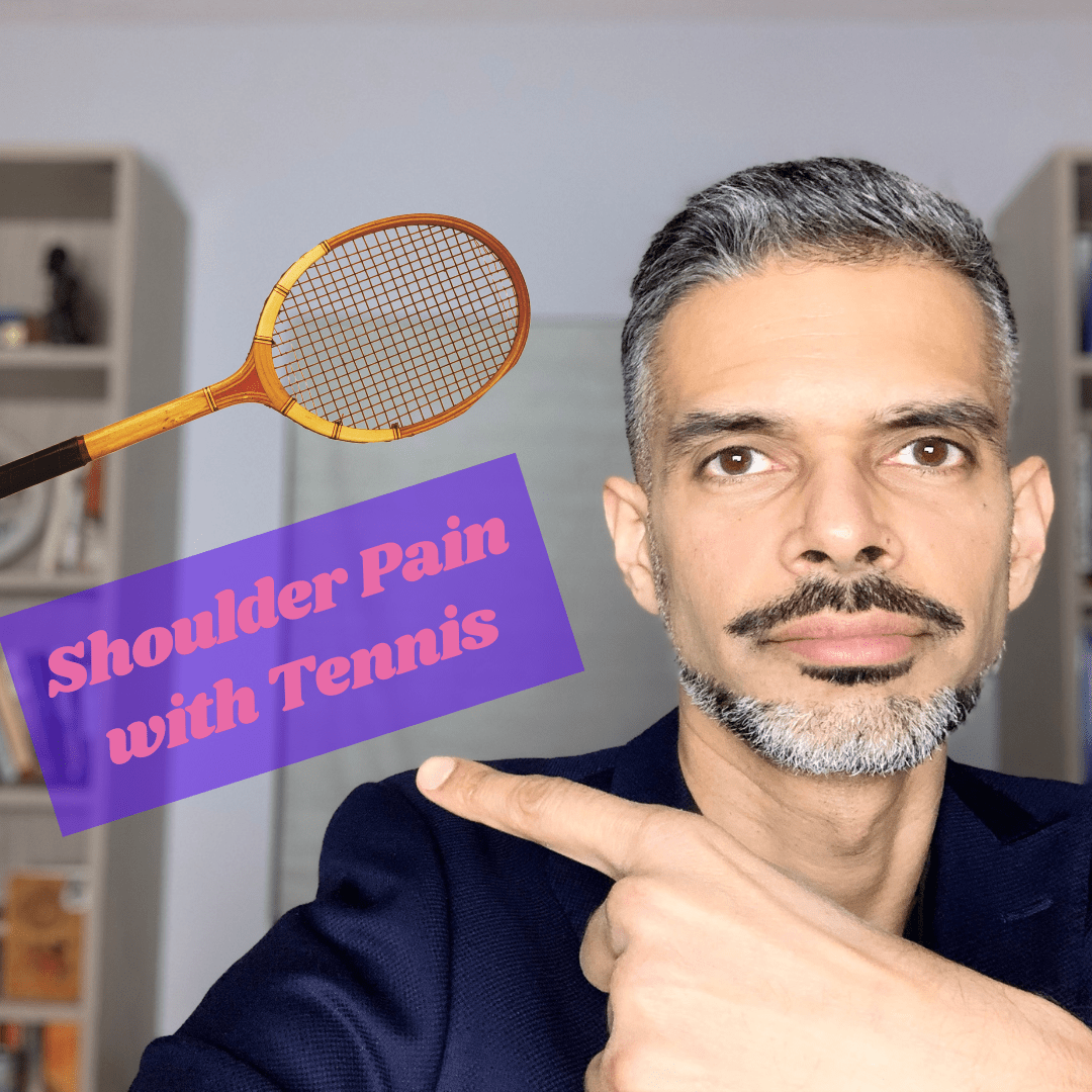 Shoulder pain with tennis
