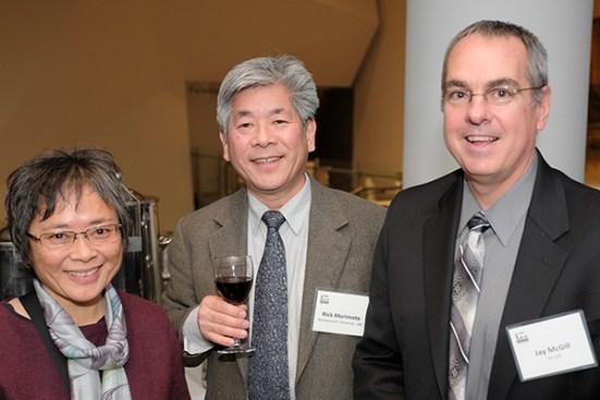 Joyce and Rick Morimoto (NU), and Jay McGill (Eli Lilly)