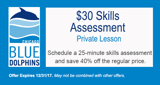 Purchase a private swim skills assessment lesson for $30