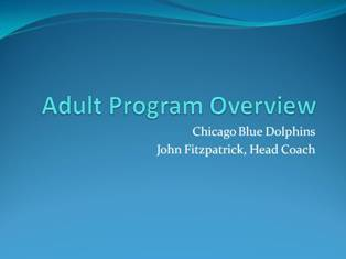 Adult Swimming Lessons Overview