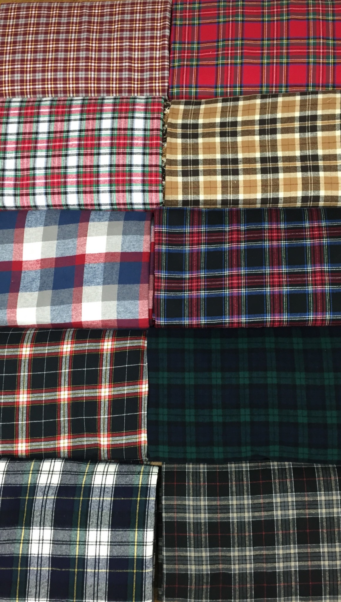 Plaid Flannel Stack  Chicago Canvas  Supply