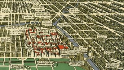 Old Chicago neighborhood map